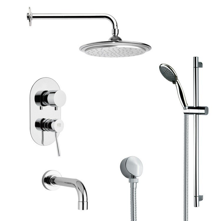 REMER TSR9045 GALIANO MODERN POLISHED CHROME RAIN SHOWER SYSTEM