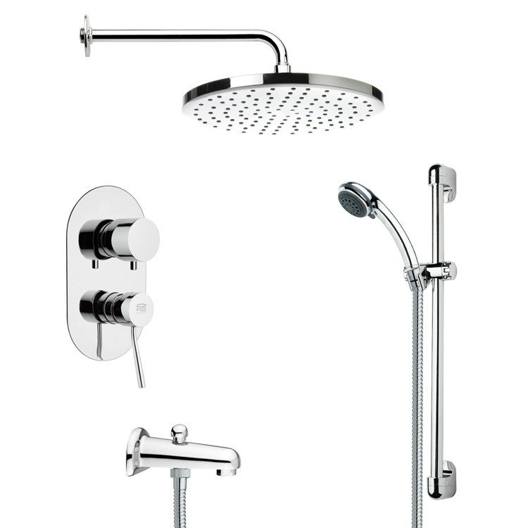 REMER TSR9049 GALIANO MODERN ROUND CHROME SHOWER SYSTEM