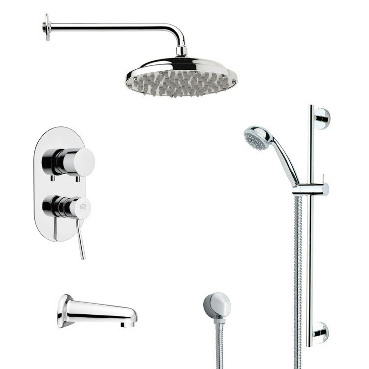 REMER TSR9053 GALIANO SLEEK RAIN SHOWER SYSTEM IN CHROME