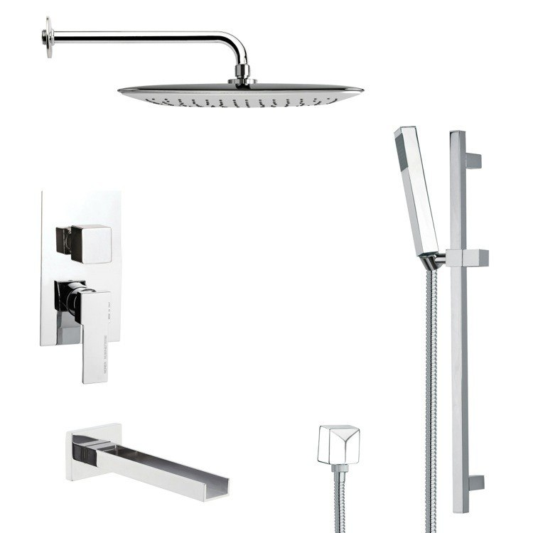 REMER TSR9055 GALIANO SQUARE CHROME SHOWER SYSTEM