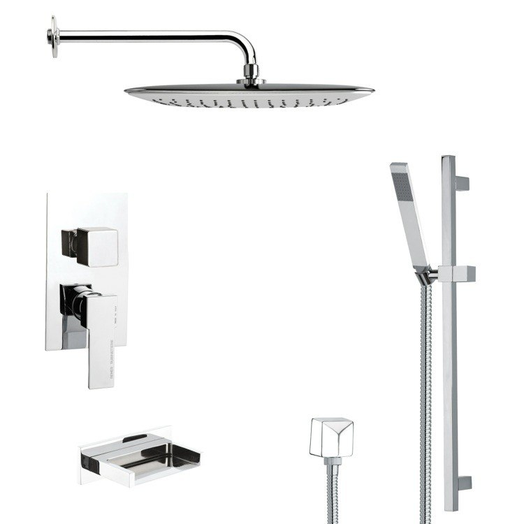 REMER TSR9057 GALIANO SQUARE CHROME SHOWER SYSTEM