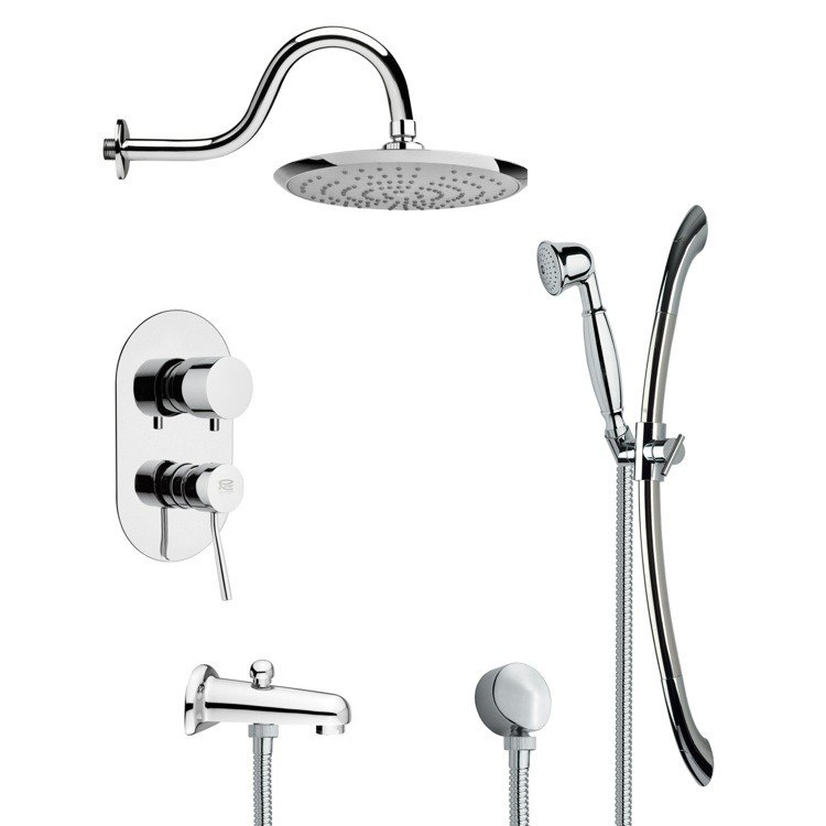 REMER TSR9077 GALIANO CONTEMPORARY CHROME RAIN SHOWER SYSTEM