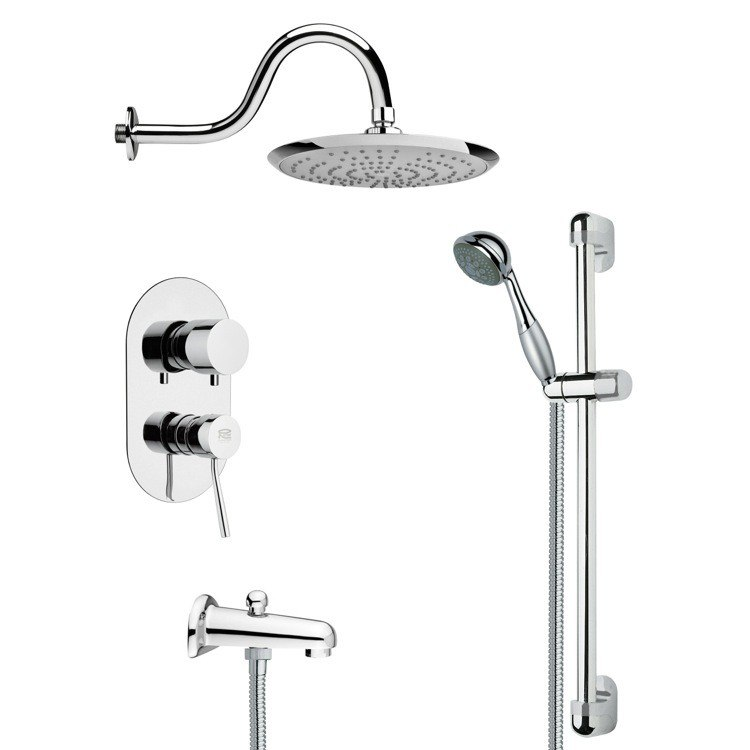 REMER TSR9078 GALIANO CONTEMPORARY CHROME RAIN SHOWER SYSTEM
