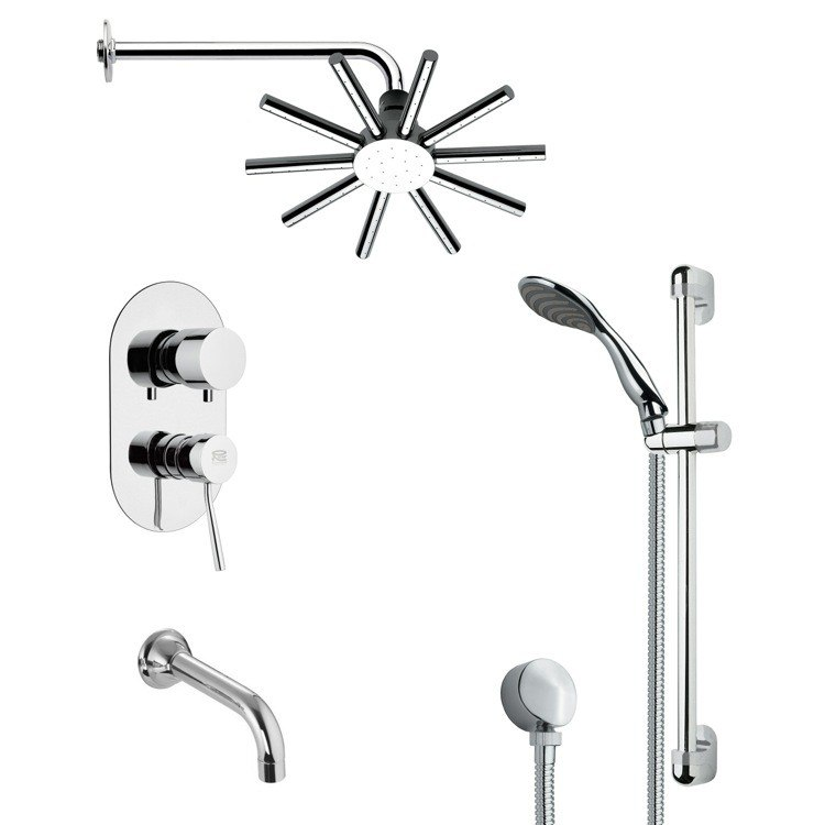 REMER TSR9085 GALIANO CONTEMPORARY CHROME SHOWER SYSTEM