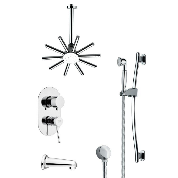 REMER TSR9088 GALIANO CONTEMPORARY CHROME SHOWER SYSTEM