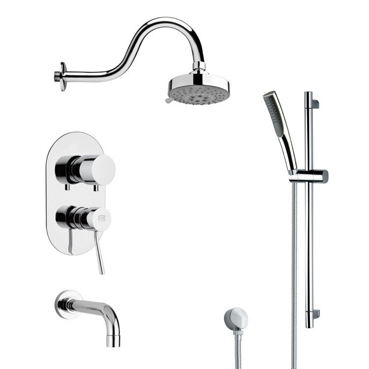 REMER TSR9105 GALIANO POLISHED CHROME SHOWER SYSTEM