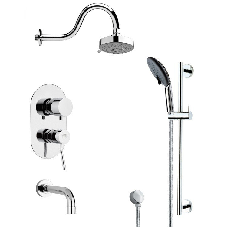 REMER TSR9106 GALIANO POLISHED CHROME SHOWER SYSTEM