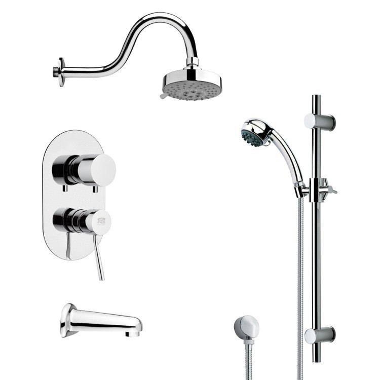 REMER TSR9107 GALIANO POLISHED CHROME SHOWER SYSTEM