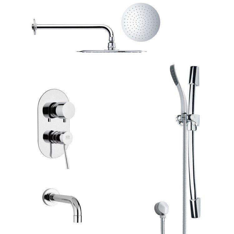 REMER TSR9130 GALIANO POLISHED CHROME RAIN SHOWER SYSTEM