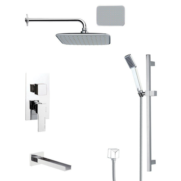 REMER TSR9133 GALIANO POLISHED CHROME RAIN SHOWER SYSTEM