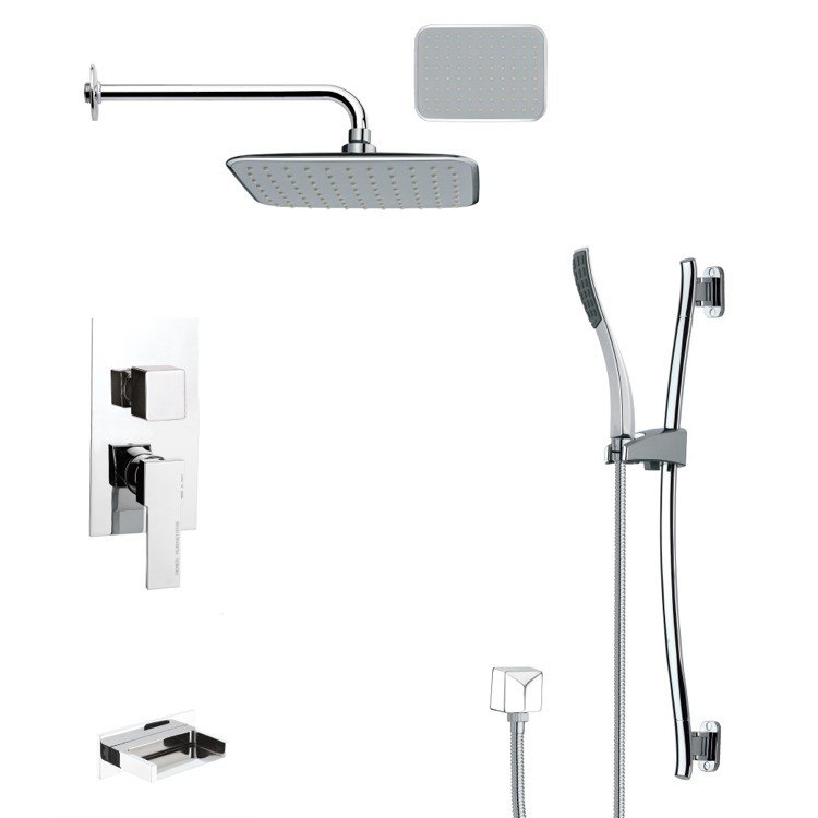 REMER TSR9136 GALIANO POLISHED CHROME RAIN SHOWER SYSTEM