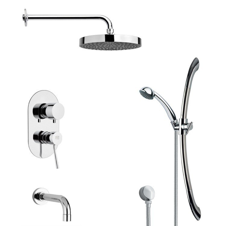 REMER TSR9146 GALIANO ROUND CHROME RAIN SHOWER SYSTEM