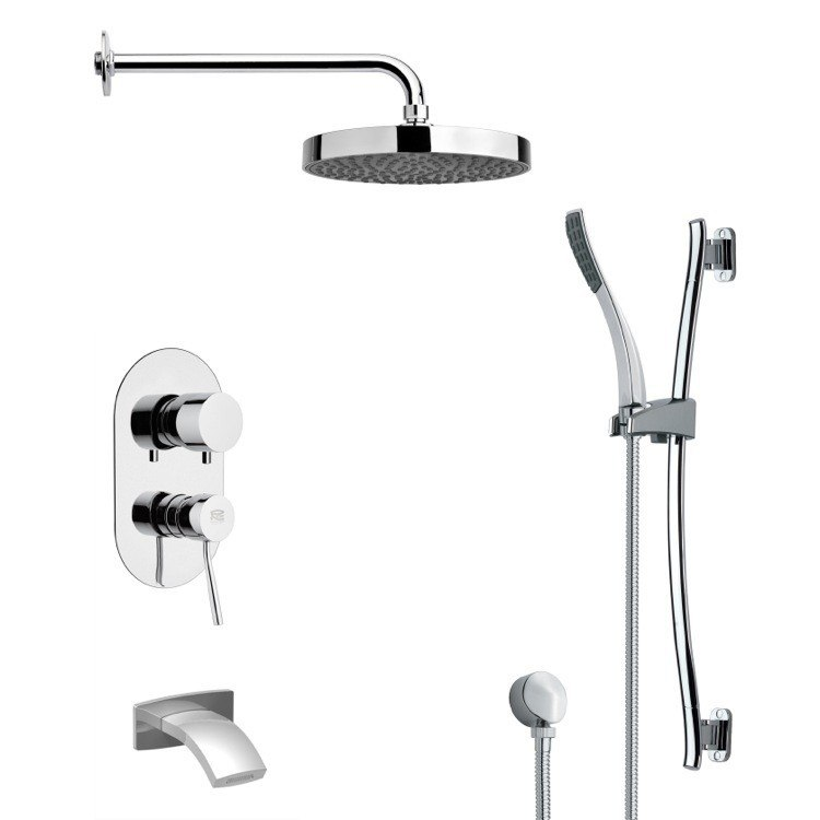 REMER TSR9148 GALIANO ROUND CHROME RAIN SHOWER SYSTEM