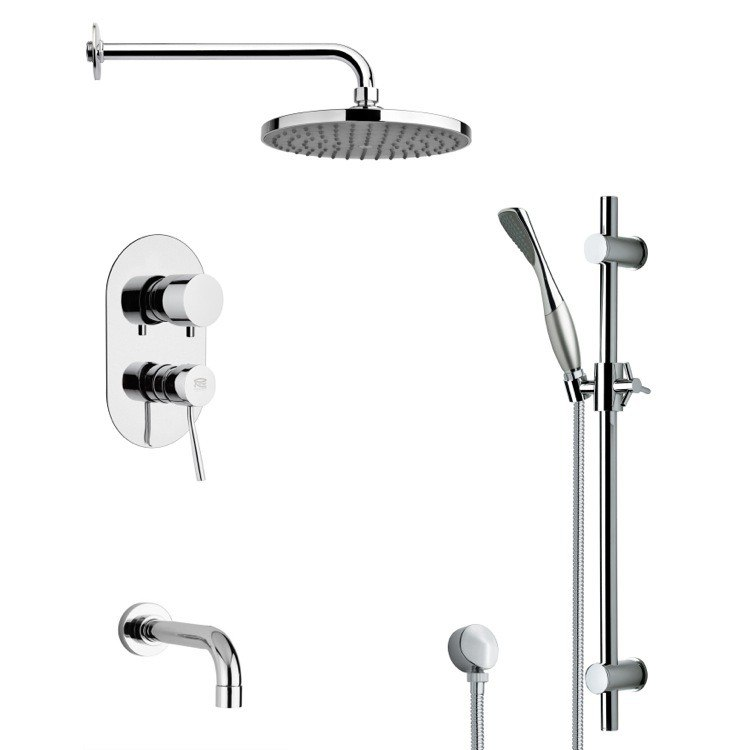 REMER TSR9149 GALIANO ROUND CHROME RAIN SHOWER SYSTEM