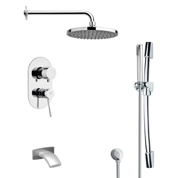 REMER TSR9151 GALIANO ROUND CHROME RAIN SHOWER SYSTEM