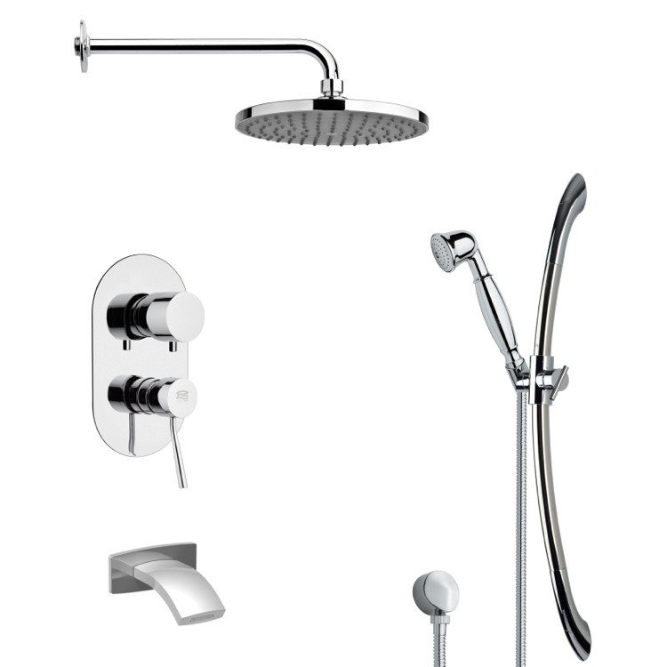 REMER TSR9152 GALIANO ROUND CHROME RAIN SHOWER SYSTEM