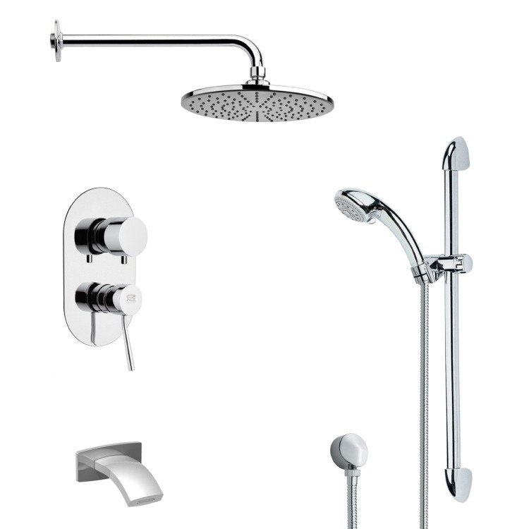 REMER TSR9154 GALIANO ROUND CHROME RAIN SHOWER SYSTEM