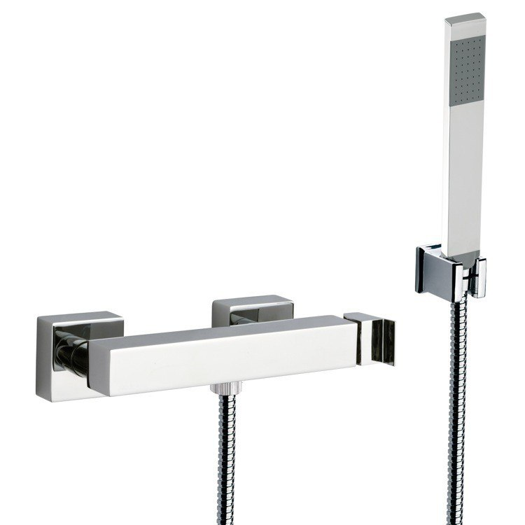 REMER Z39US FLASH WALL MOUNTED SHOWER DIVERTER WITH HAND SHOWER AND HOLDER IN CHROME