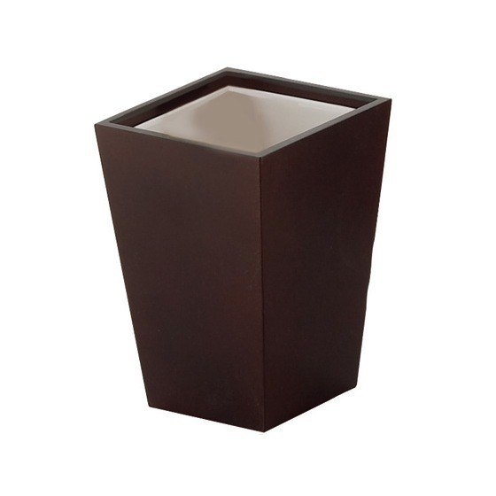 GEDY 1510 KYOTO SQUARE WOOD TOOTHBRUSH HOLDER