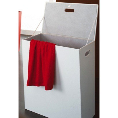 GEDY 1539 KYOTO RECTANGLE FAUX LEATHER LAUNDRY BASKET