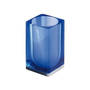 GEDY 4410 ATENA WALL MOUNT GLASS TOOTHBRUSH HOLDER