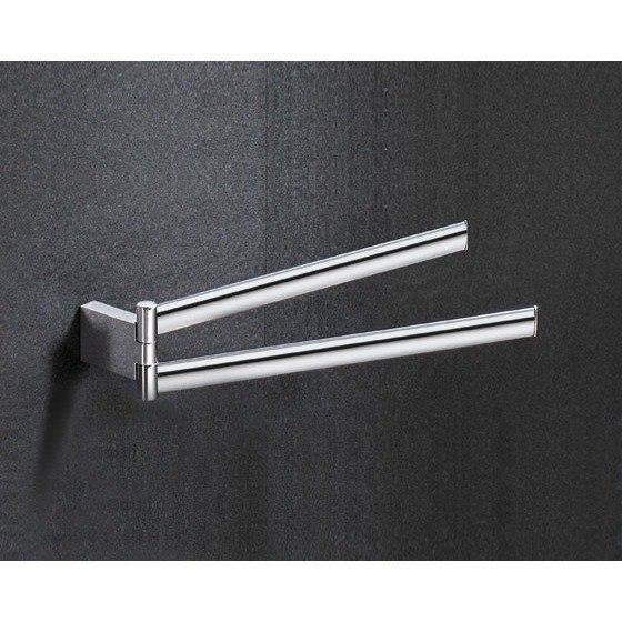 GEDY 5523-13 KENT 14 INCH CHROME DOUBLE ARM SWIVEL TOWEL BAR