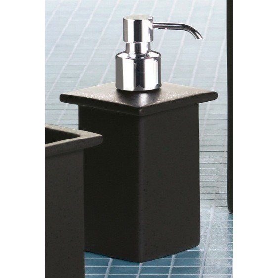 GEDY 6655-29 MINNESOTA SQUARE PORCELAIN SOAP DISPENSER IN MOKA