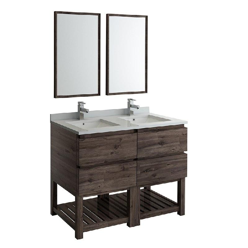 Fresca Fvn31 2424aca Fs Formosa 48 Inch Floor Standing Double Sink