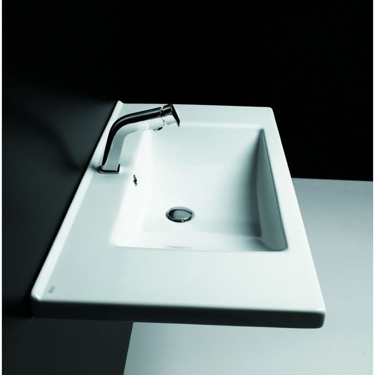 ALTHEA 30114 KLOC 38 X 20 INCH CERAMIC PORCELAIN SINK - QUALITY AND SELF RIMMING