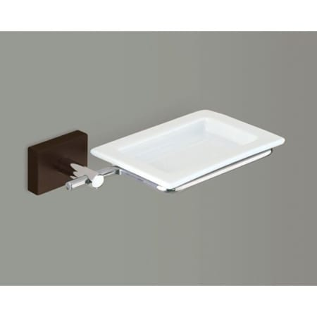 GEDY 6611 MINNESOTA WALL MOUNTED SQUARE PORCELAIN SOAP DISH