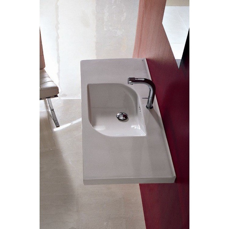 Althea 30115 Play 41 x 20 Inch White Washbasin, Designer - Self Rimming