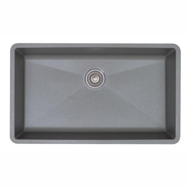 Blanco 440148 Diamond Granite 32 Inch Kitchen Sink in Metallic Gray
