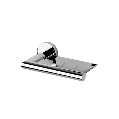 GEESA 6503 NEMOX COLLECTION WALL MOUNTED SQUARE SOAP DISH WITH ROUND EDGE