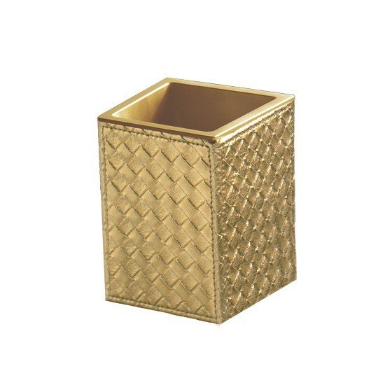 GEDY 6798 MARRAKECH FAUX LEATHER TOOTHBRUSH HOLDER