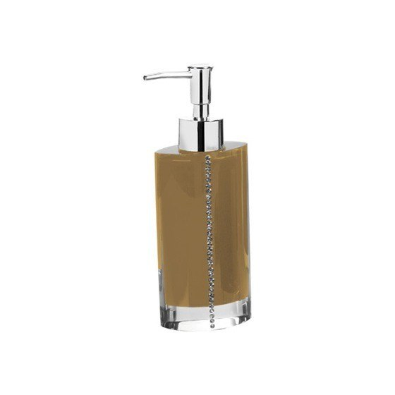 GEDY 7481 DIAMONDS COUNTERTOP SOAP DISPENSER WITH CRYSTALS