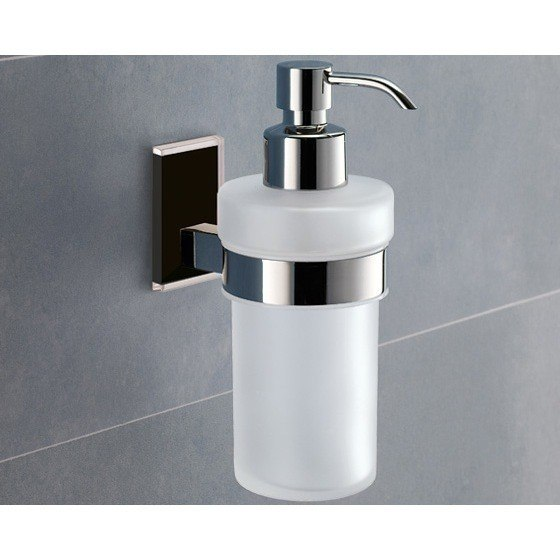 GEDY 7881 MAINE WALL MOUNTED FROSTED GLASS SOAP DISPENSER WITH MOUNTING