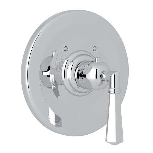ROHL A4814LM PALLADIAN THERMOSTATIC TRIM PLATE WITHOUT VOLUME CONTROL, METAL LEVER