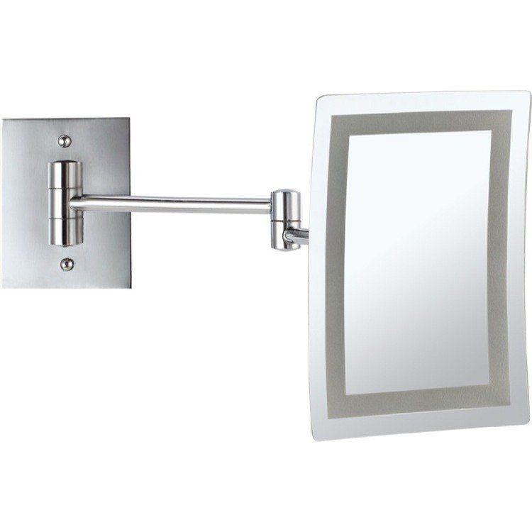 NAMEEKS AR7702-3X GLIMMER WALL MOUNTED SQUARE LED 3X MAKEUP MIRROR
