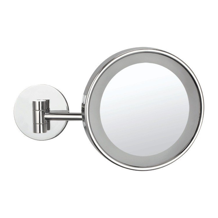 NAMEEKS AR7704-3X GLIMMER WALL MOUNTED SINGLE FACE 3X MAKEUP MIRROR WITH LED