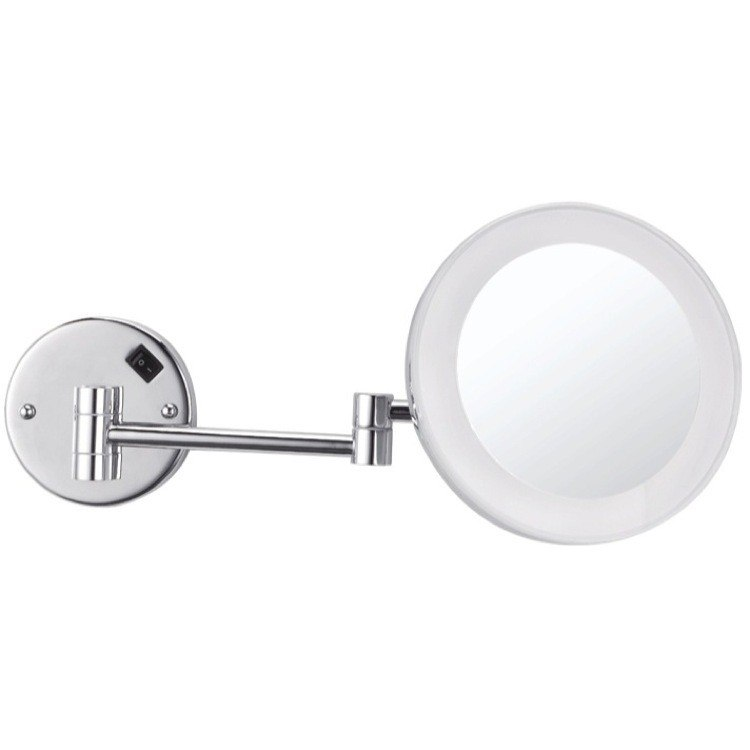 NAMEEKS AR7706-3X GLIMMER ROUND WALL MOUNTED 3X MAKEUP MIRROR WITH LED