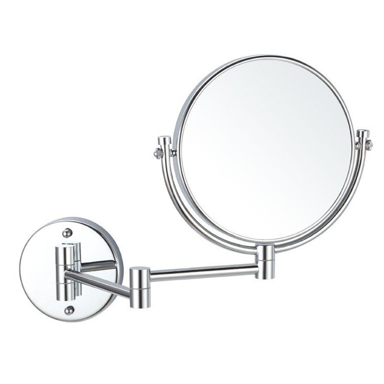 NAMEEKS AR7707-3X GLIMMER DOUBLE SIDED WALL MOUNTED 3X MAKEUP MIRROR