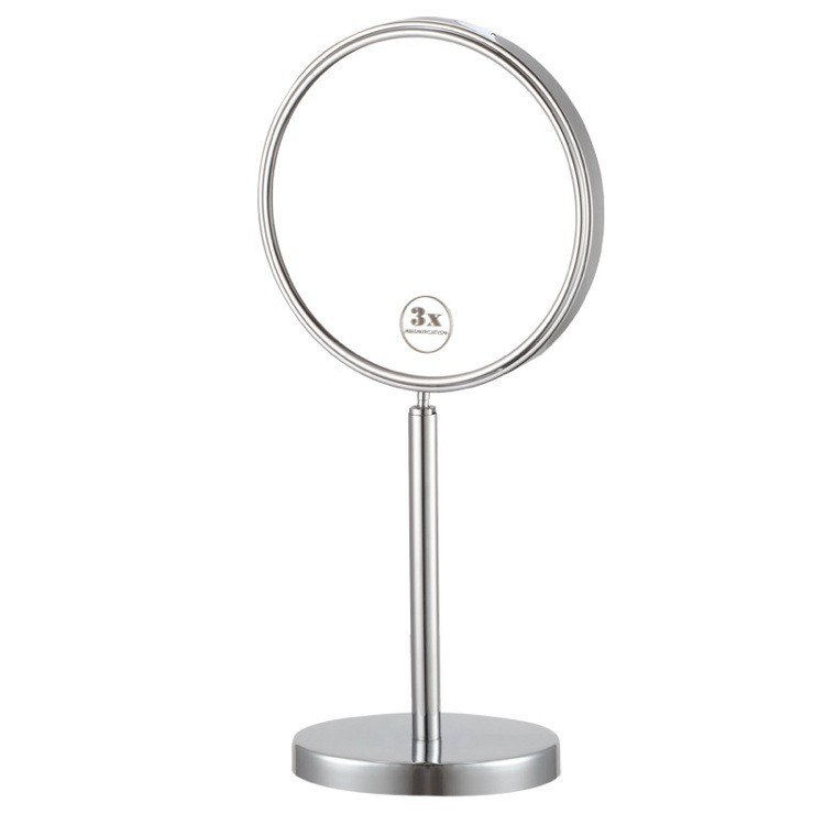 NAMEEKS AR7716-3X GLIMMER DOUBLE SIDED FREE STANDING 3X MAKEUP MIRROR