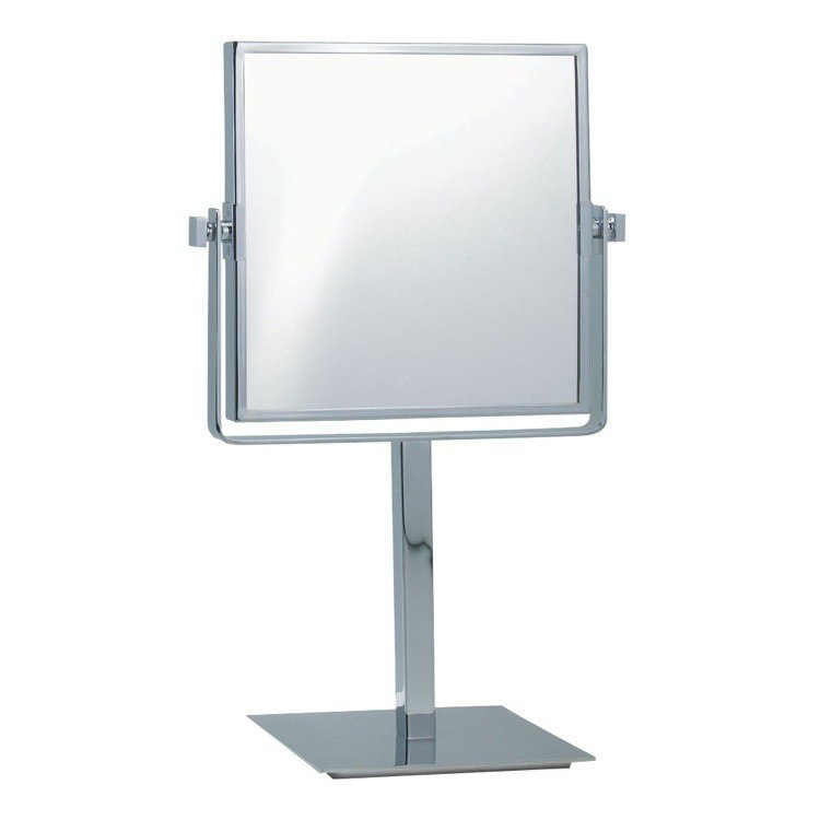 NAMEEKS AR7717-3X GLIMMER SQUARE DOUBLE SIDED 3X MAKEUP MIRROR