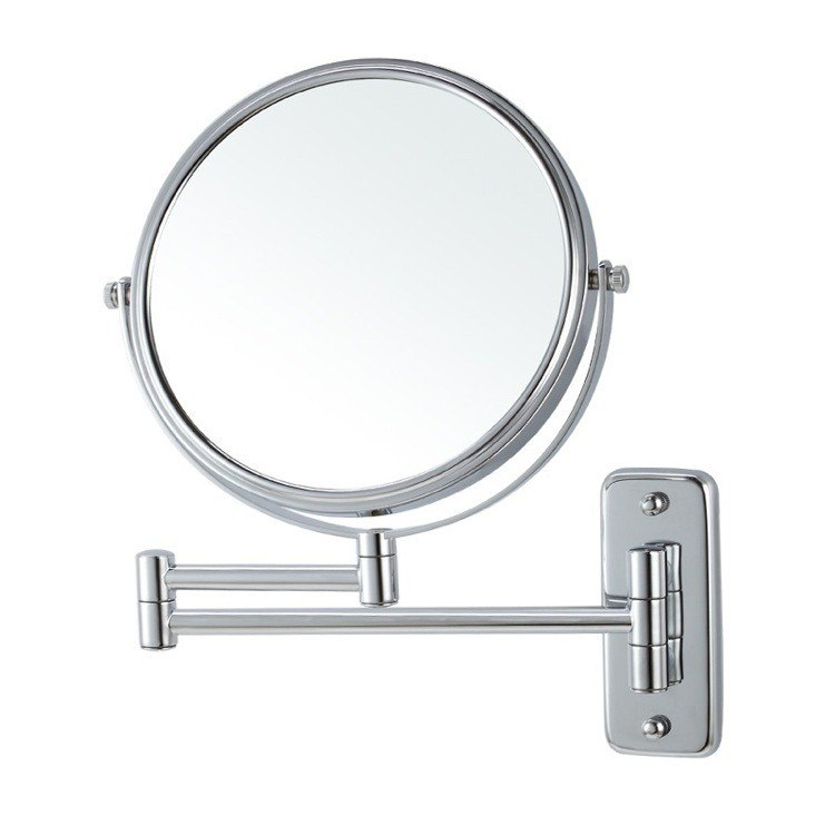 NAMEEKS AR7719-3X GLIMMER WALL MOUNTED DOUBLE SIDED 3X MAKEUP MIRROR