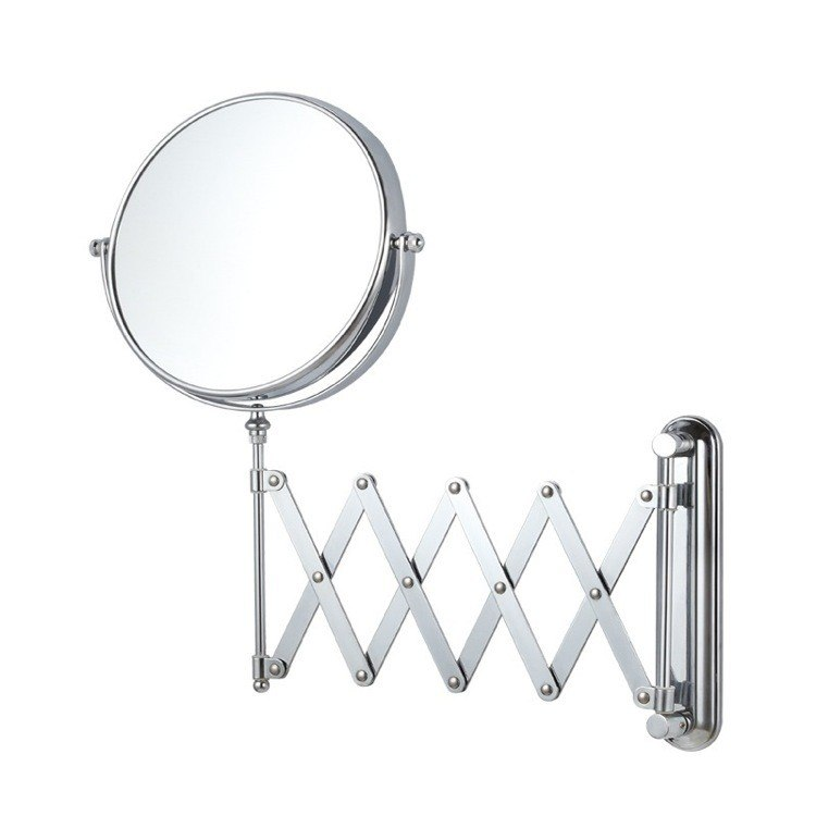 NAMEEKS AR7720-3X GLIMMER DOUBLE SIDED ADJUSTABLE ARM 3X MAKEUP MIRROR