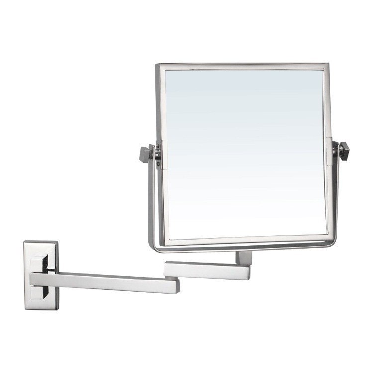 NAMEEKS AR7722-3X GLIMMER SQUARE WALL MOUNTED DOUBLE FACE 3X MAKEUP MIRROR