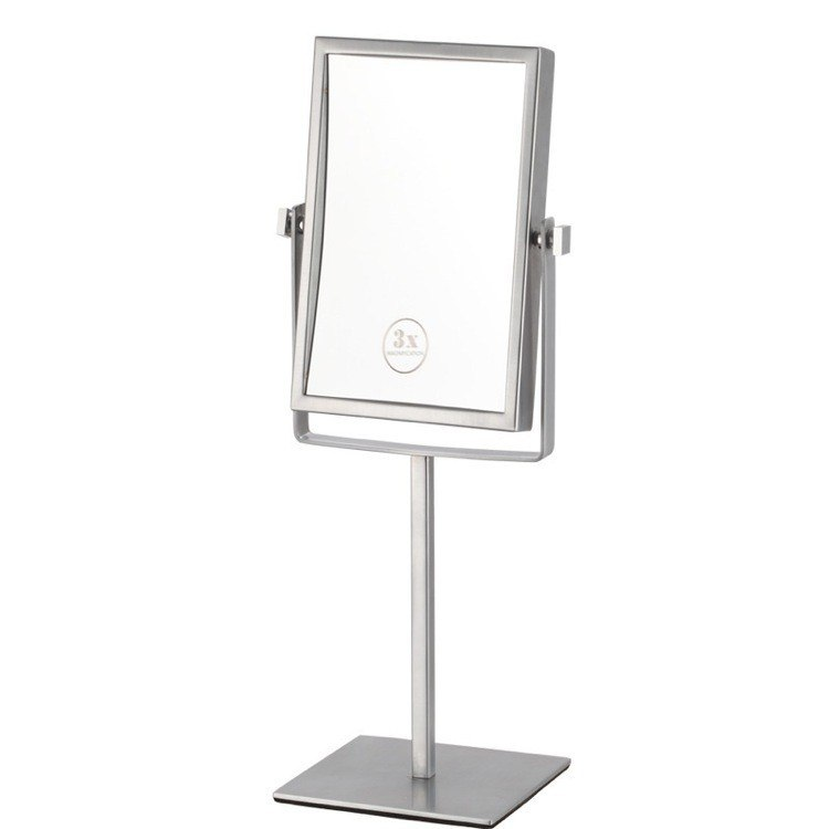 NAMEEKS AR7726-3X GLIMMER DOUBLE FACE RECTANGULAR 3X MAKEUP MIRROR
