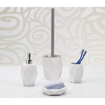GEDY DA100 DALIA POTTERY BATHROOM ACCESSORY SET