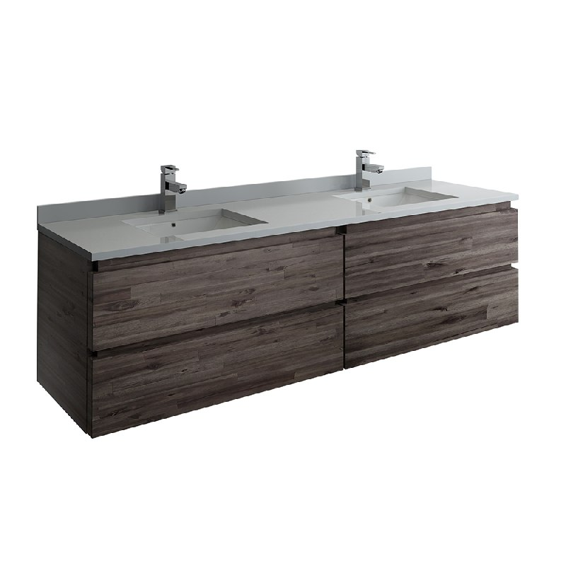 Formosa 72 Inch Wall Hung Double Sink