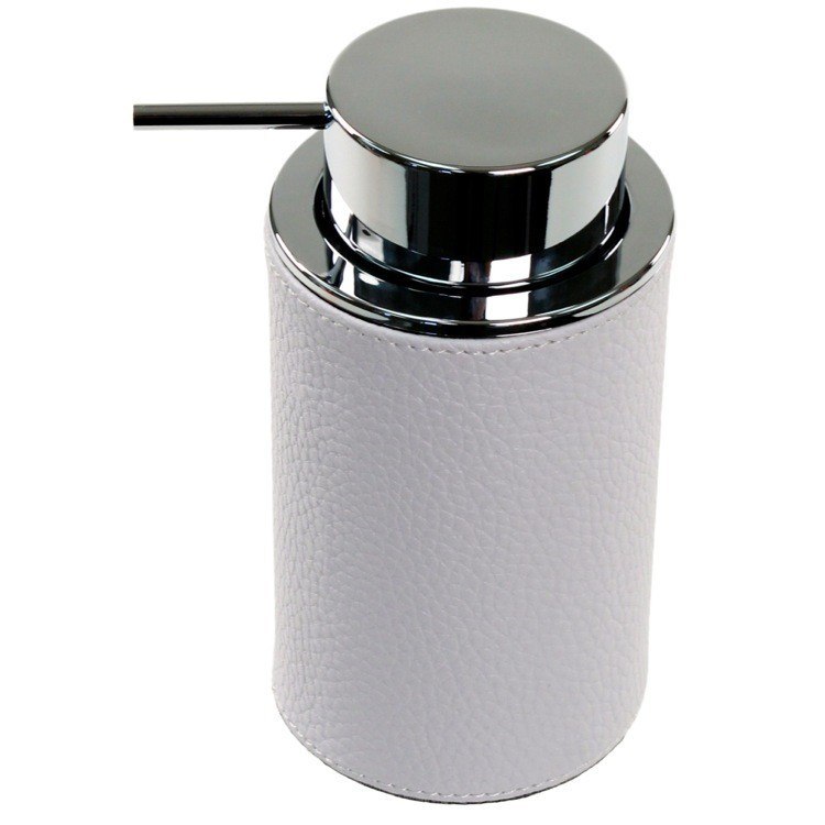 GEDY AC80 ALIANTO COLOUR ROUND SOAP DISPENSER MADE FROM FAUX LEATHER